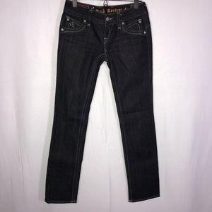Rock Revival Jeans - Rock Revival Chrissie Black Straight Jeans 26 32